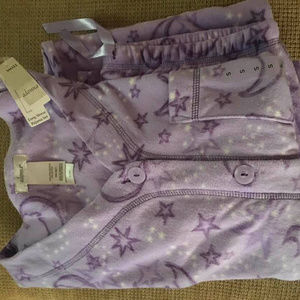 Adonna Purple Moon and Stars Pajama Set NWT